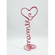 Porte photo coeur avec mot ou prénom